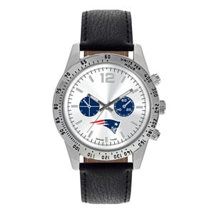 New England Patriots Mens Quartz Analog Letterman Watch