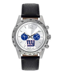 New York Giants Mens Quartz Analog Letterman Watch