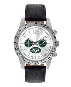New York Jets Mens Quartz Analog Letterman Watch