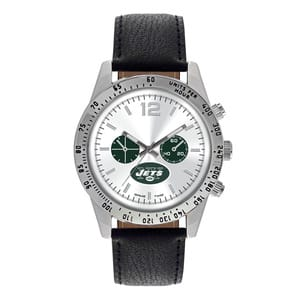 New York Jets Mens Quartz Analog Letterman Watch
