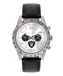 Oakland Raiders Mens Quartz Analog Silver Heavy Hitter Watch