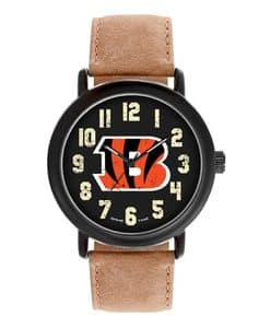 Cincinnati Bengals Mens Quartz Analog Throwback Watch