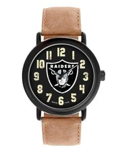 Oakland Raiders Mens Quartz Analog Throwback Watch