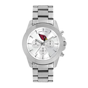 Arizona Cardinals Ladies Quartz Analog Silver Knockout Watch