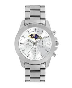 Baltimore Ravens Ladies Quartz Analog Silver Knockout Watch