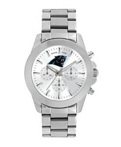Carolina Panthers Ladies Quartz Analog Silver Knockout Watch