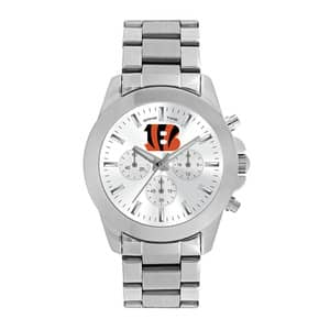 Cincinnati Bengals Ladies Quartz Analog Silver Knockout Watc