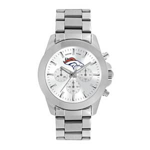 Denver Broncos Ladies Quartz Analog Silver Knockout Watch