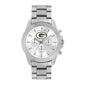 Green Bay Packers Ladies Quartz Analog Silver Knockout Watch