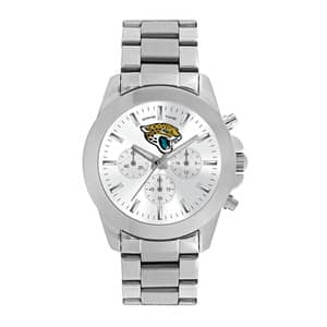 Jacksonville Jaguars Ladies Quartz Analog Silver Knockout Watch