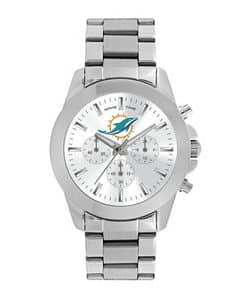 Miami Dolphins Ladies Quartz Analog Silver Knockout Watch