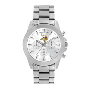 Minnesota Vikings Ladies Quartz Analog Silver Knockout Watch