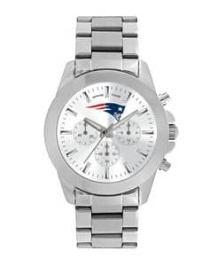 New England Patriots Ladies Quartz Analog Silver Knockout Watch