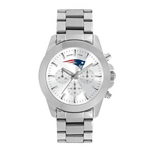 New England Patriots Ladies Quartz Analog Silver Knockout Watch