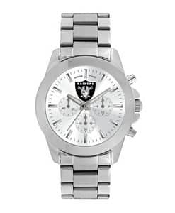 Oakland Raiders Ladies Quartz Analog Silver Knockout Watch