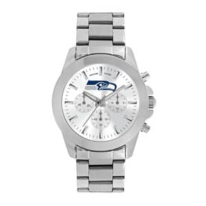Seattle Seahawks Ladies Quartz Analog Silver Knockout Watch