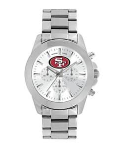 San Francisco 49Ers Ladies Quartz Analog Silver Knockout Watch