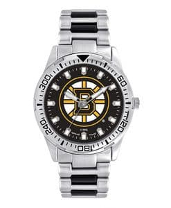 Boston Bruins Mens Quartz Analog Silver Heavy Hitter Watch