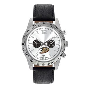 Anaheim Ducks Mens Quartz Analog Letterman Watch