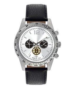 Boston Bruins Mens Quartz Analog Letterman Watch