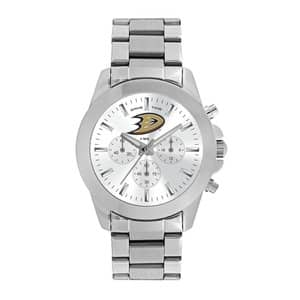 Anaheim Ducks Ladies Quartz Analog Silver Knockout Watch