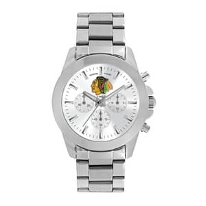 Chicago Blackhawks Ladies Quartz Analog Silver Knockout Watch