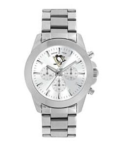 Pittsburgh Penguins Ladies Quartz Analog Silver Knockout Watch