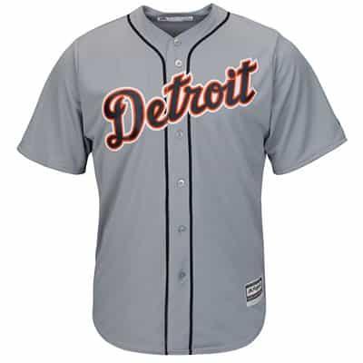 best service 70110 af10b J.D. Martinez Detroit Tigers Cool Base Replica Road Jersey