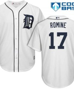 Andrew Romine Detroit Tigers Cool Base Replica Home Jersey