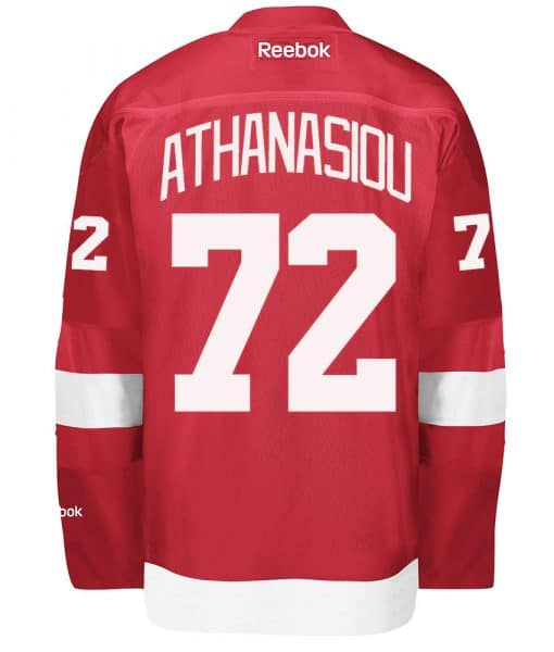 Andreas Athanasiou Detroit Red Wings Reebok Premier Home Jersey