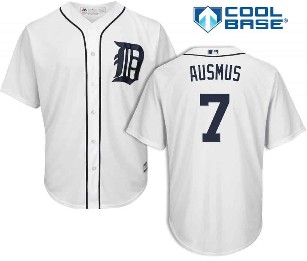 Brad Ausmus Detroit Tigers Cool Base Replica Home Jersey