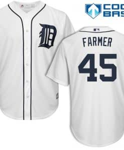 Buck Farmer Detroit Tigers Cool Base Replica Home Jersey
