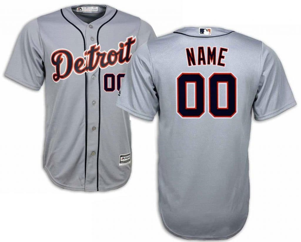 Detroit Tigers Men's Majestic Cool Base Custom Road Jersey