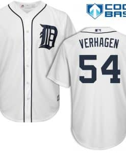 Drew VerHagen Detroit Tigers Cool Base Replica Home Jersey