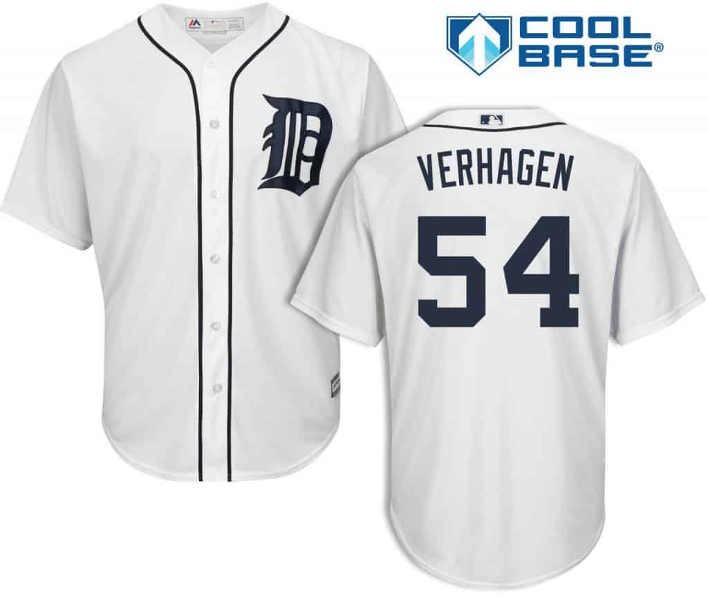 Drew VerHagen Detroit Tigers Cool Base Replica Home Jersey