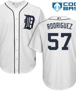 Francisco Rodriguez Detroit Tigers Cool Base Replica Home Jersey