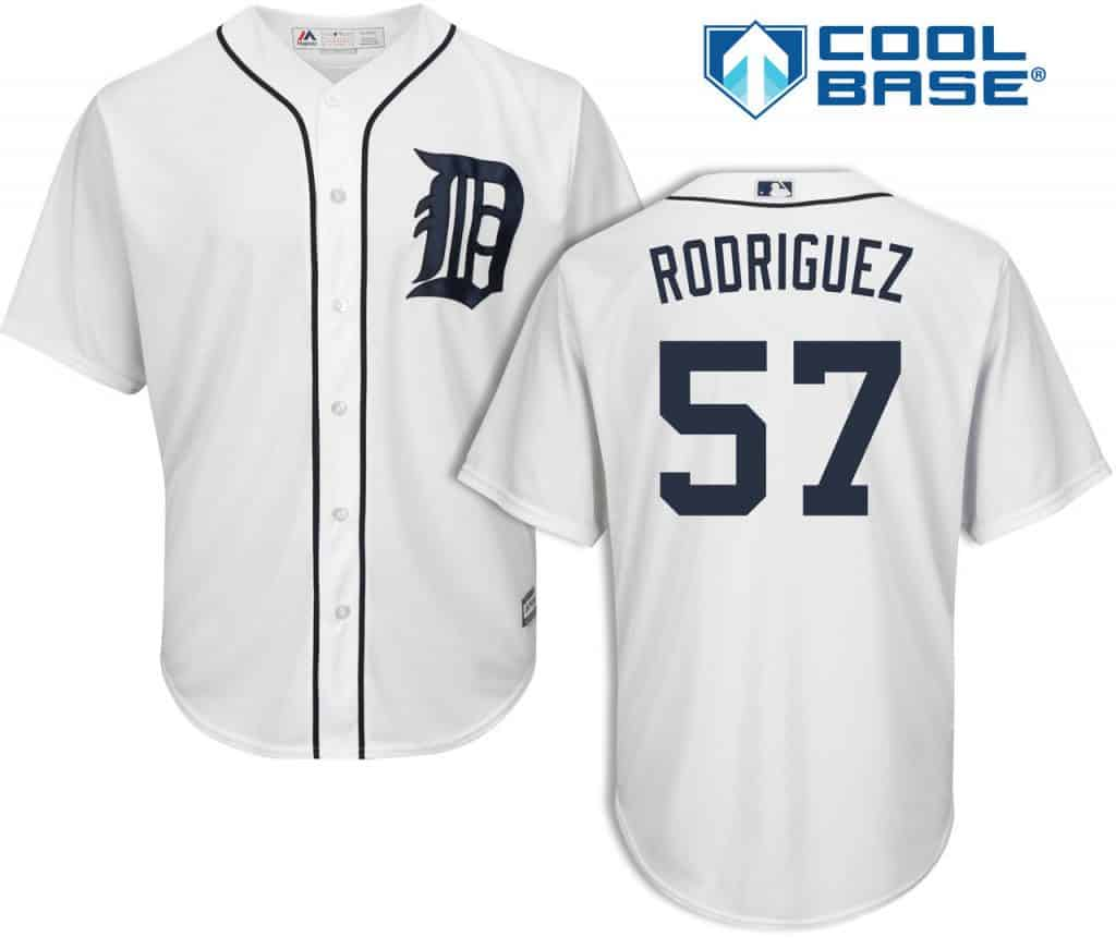 Francisco Rodriguez Detroit Tigers Cool Base Replica Home Jersey