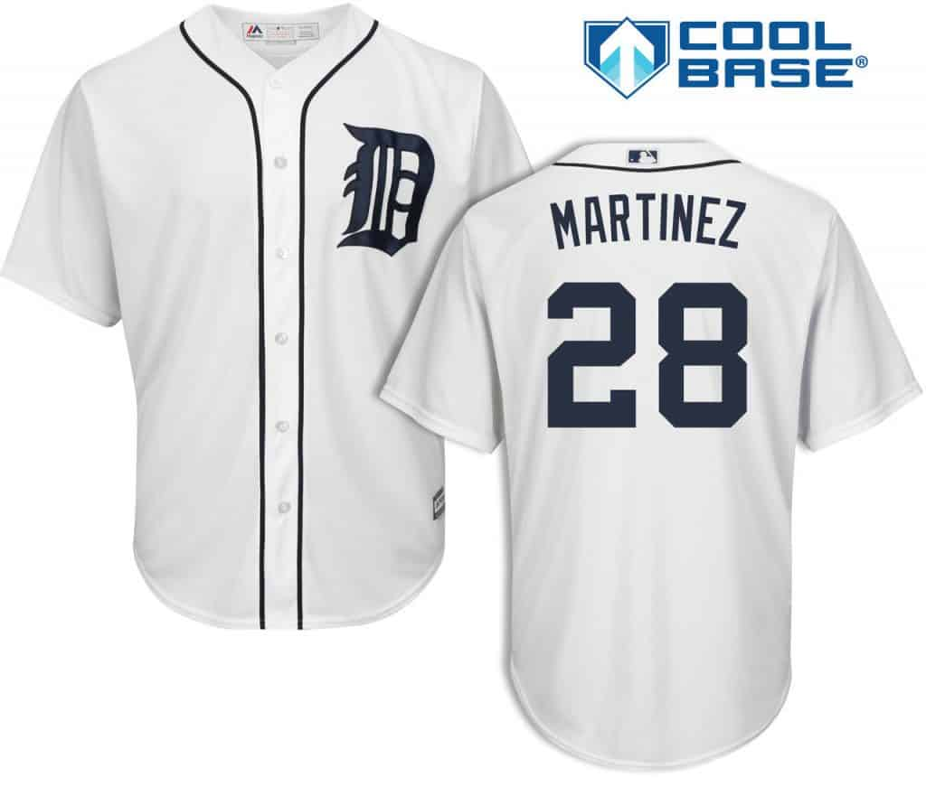 J.D. Martinez Detroit Tigers Cool Base Replica Home Jersey