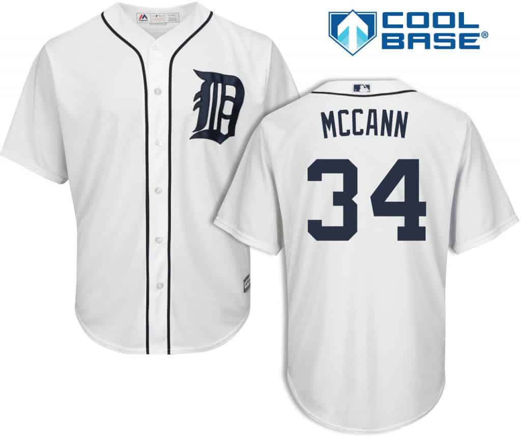 James McCann Detroit Tigers Cool Base Replica Home Jersey