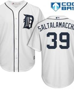 Jarrod Saltalamacchia Detroit Tigers Cool Base Replica Home Jersey