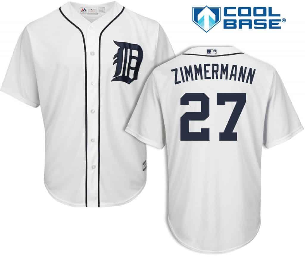 Jordan Zimmermann Detroit Tigers Cool Base Replica Home Jersey