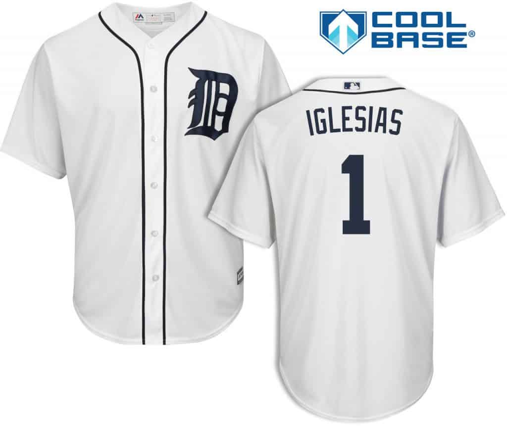 Jose Iglesias Detroit Tigers Cool Base Replica Home Jersey
