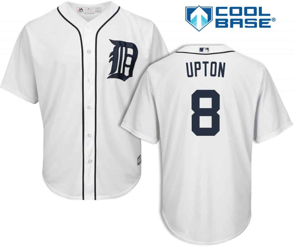 Justin Upton Detroit Tigers Cool Base Replica Home Jersey