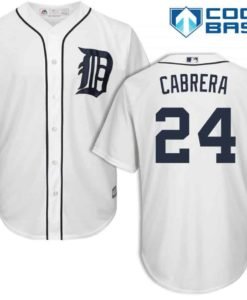 Miguel Cabrera Detroit Tigers Cool Base Replica Home Jersey