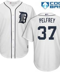 Mike Pelfrey Detroit Tigers Cool Base Replica Home Jersey
