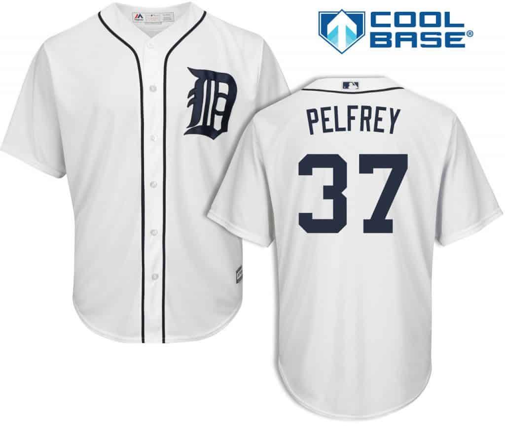 Mike Pelfrey Detroit Tigers Cool Base Replica Home Jersey