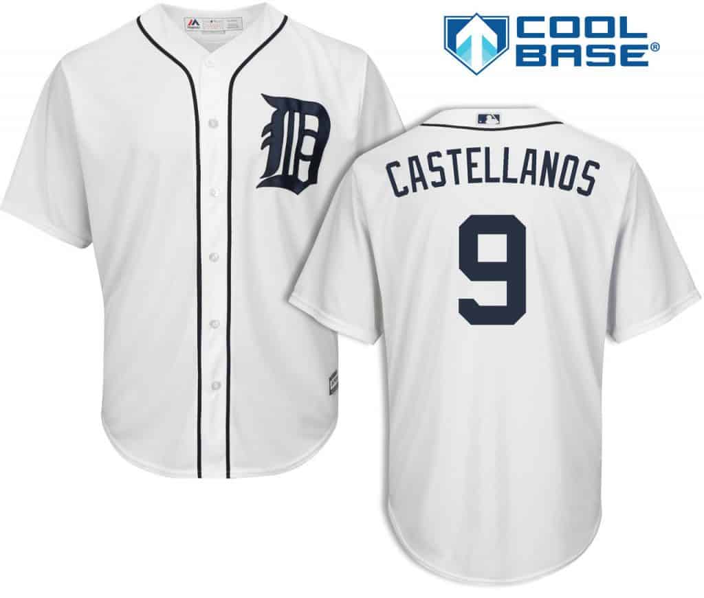 Nick Castellanos Detroit Tigers Cool Base Replica Home Jersey