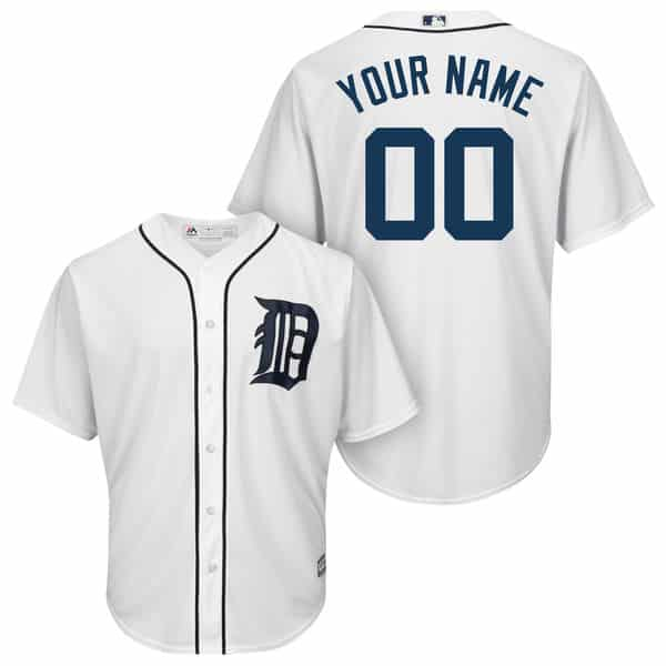 Detroit Tigers Majestic Cool Base Custom Home Jersey