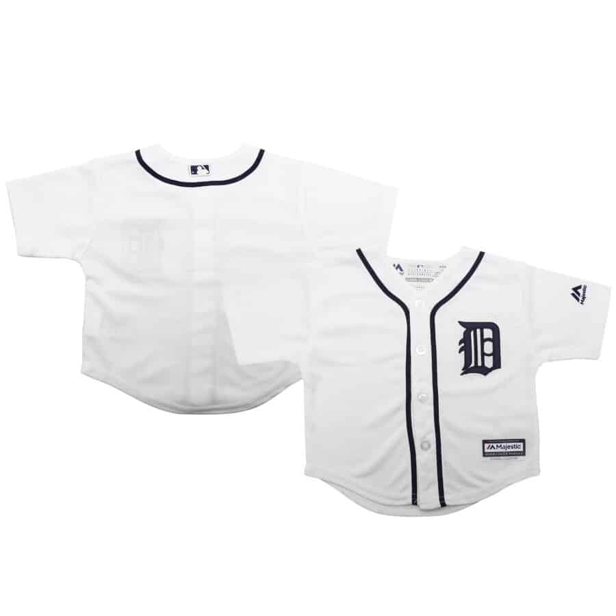 34b75ed97fb Detroit Tigers Infant BABY Majestic White Home Cool Base Replica Jersey -  Detroit Game Gear