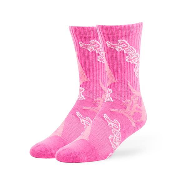 Detroit Tigers 47 Brand MEDIUM Pink Sport Socks